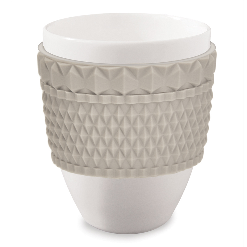 Baci milano mug chic greige avorio brighter home for Outlet casalinghi milano