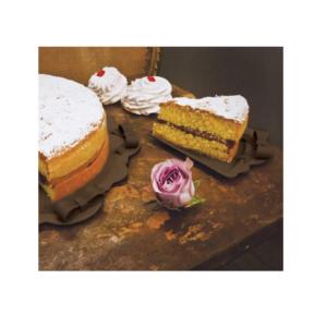 Baci Milano Chic&Pastel Piatto Fetta Torta con Fiocco - cioccolato