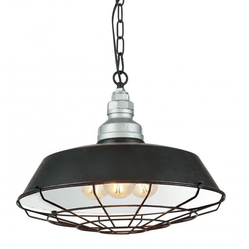I-BAZAR-S3 - Lampadario di colore nero rustico 60 watt E27