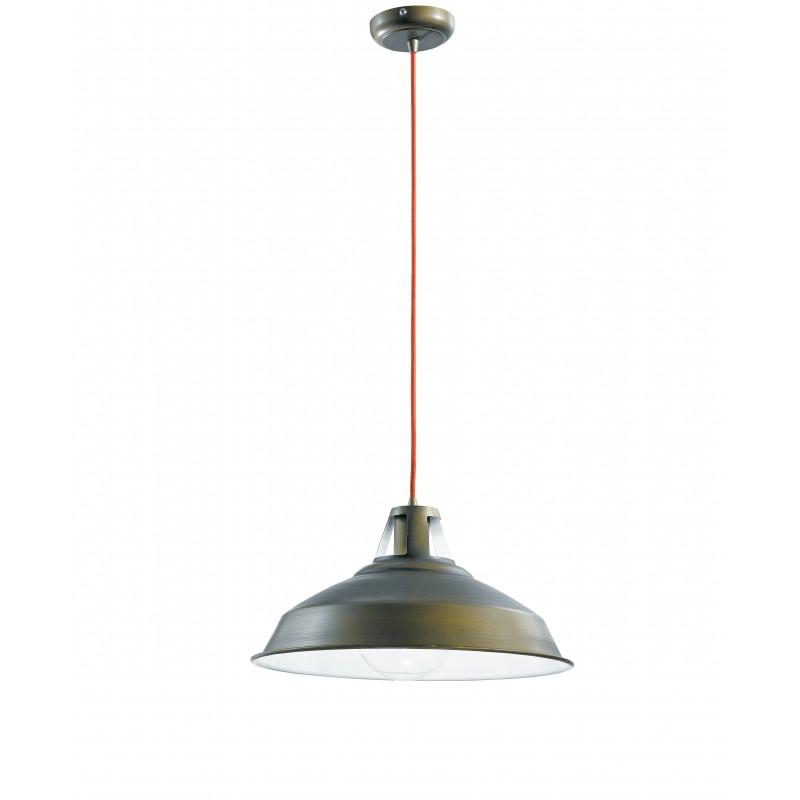 I-BOGOTA/S1 - Pendente rustico di colore antracite 60 watt E27