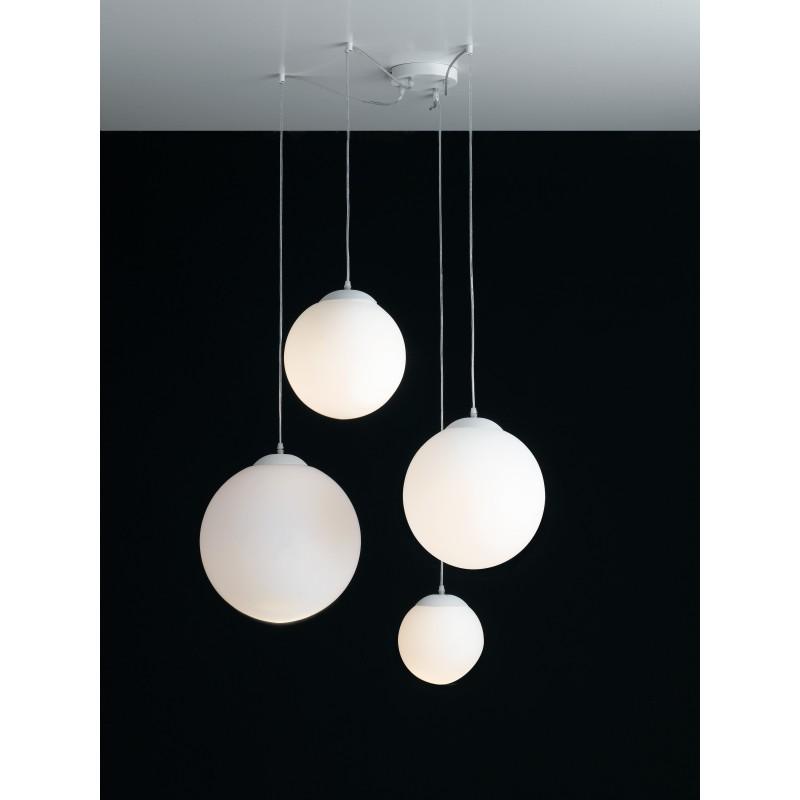 I-LAMPD/S4 BCO - Lampadario con quattro decori sferici 60 watt E27