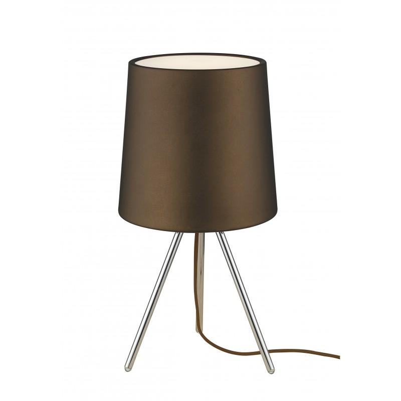 I marley l mar lampada da tavolo a tre piedi moderna di colore marrone 13 watt e14 brighter home - Lampada da tavolo moderna ...