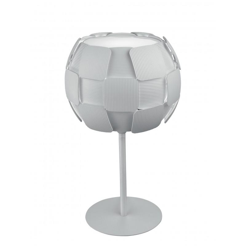 Lampada da tavolo a quadri bianca