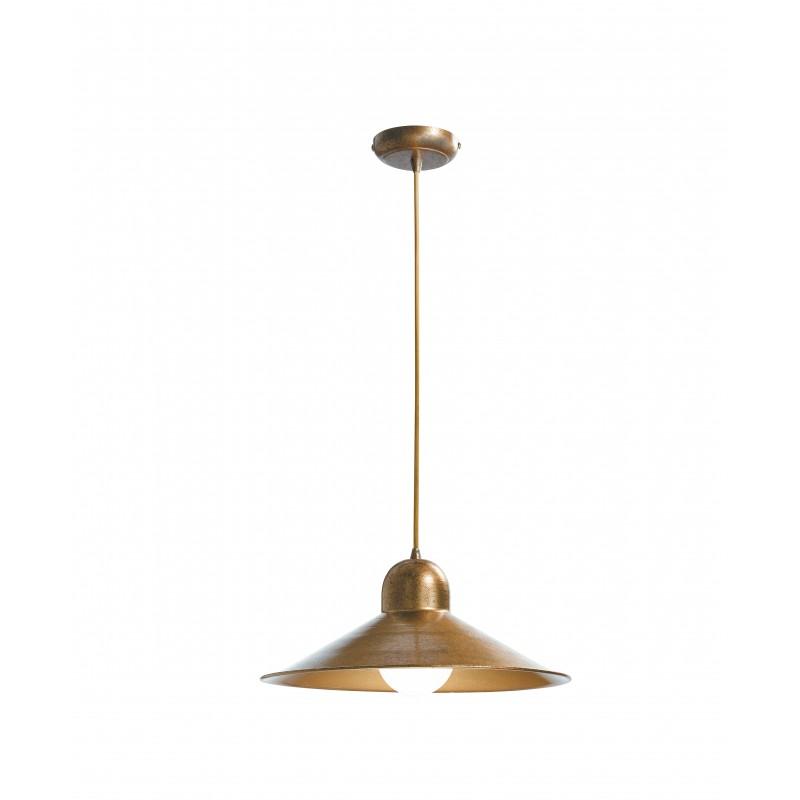 I-ORLEANS/S1 - Pendente colore del rame dalla forma semplice e classica 60 watt E27