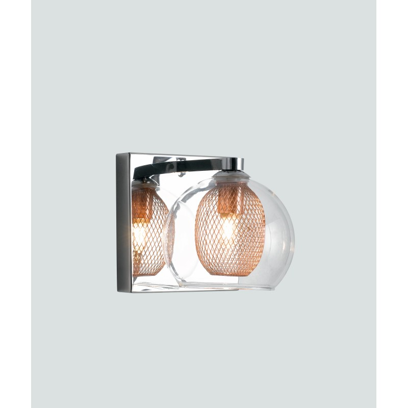 I-THESIS-AP - Applique moderna con paralume trasparente 28 watt G9