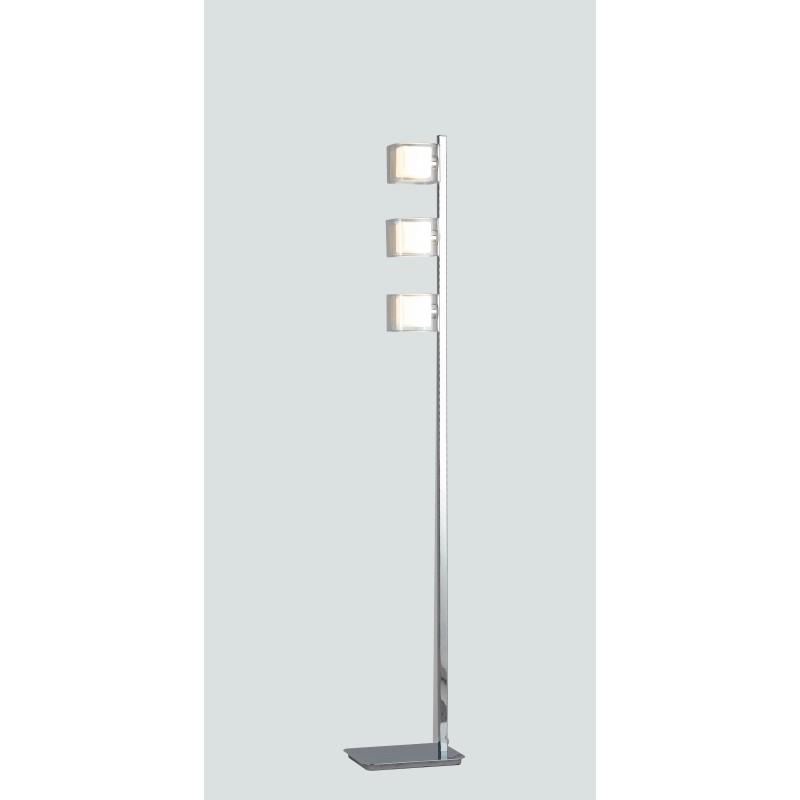 I-YOGA-PT3 - Lampada da terra Piantana cromata elegante con tre cubi 42 watt G9