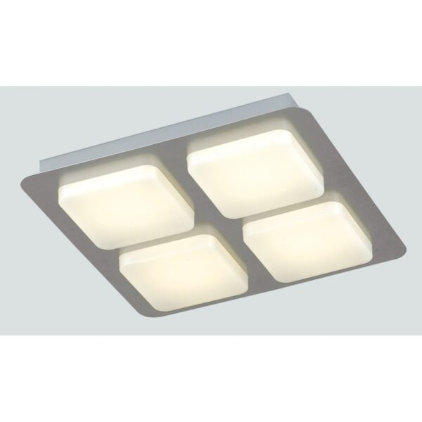 LED-MADISON-Q4 Plafoniera Madison con 4 luci led cubiche