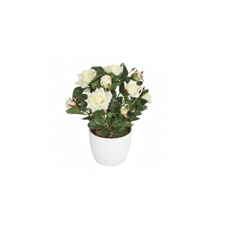 Vaso con pianta rose finte adriani e rossi brighter home for Pianta con fiori rossi