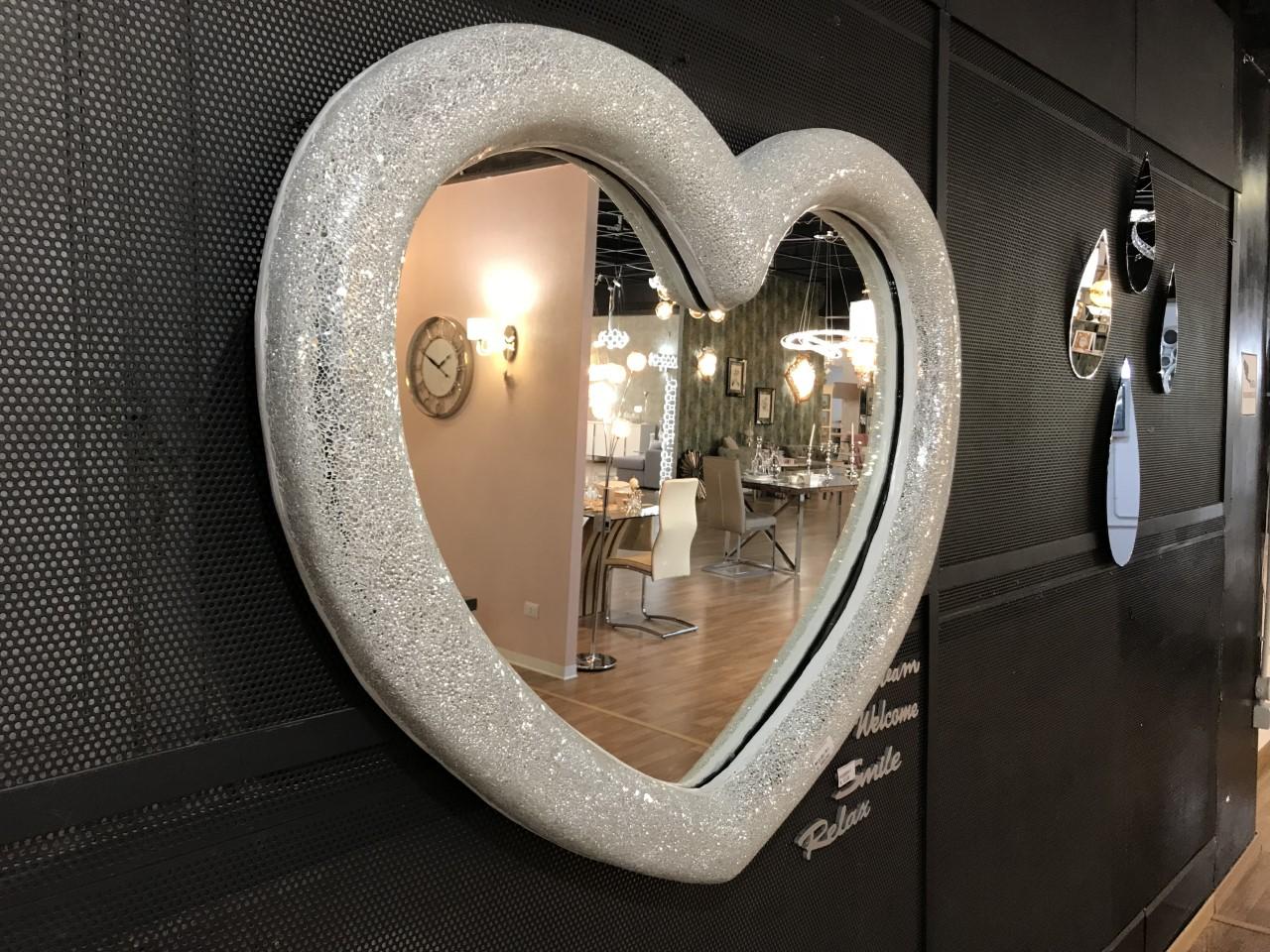 Specchio cuore exaltation brighter home - Specchio a cuore ...