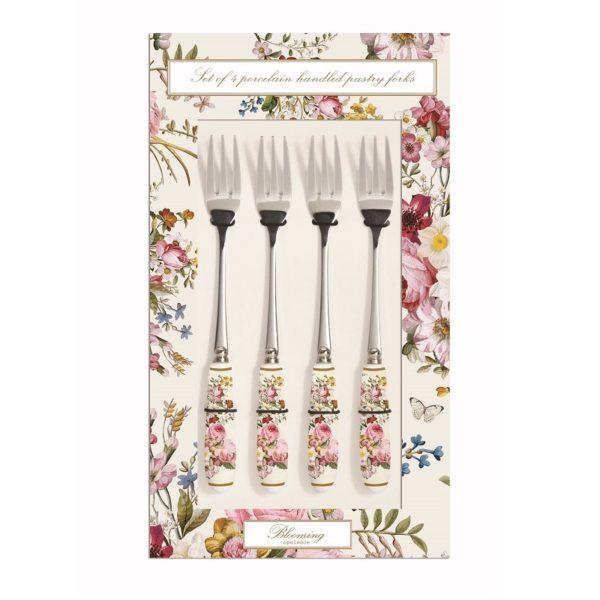 4 Forchette da dolce in Porcellana Bianca Blooming Opulence