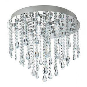 Led-Stelle/Pl50 - Plafoniera A Led Dallo Stile Classico Decorato Con Cristalli A Goccia Pendenti 30 W