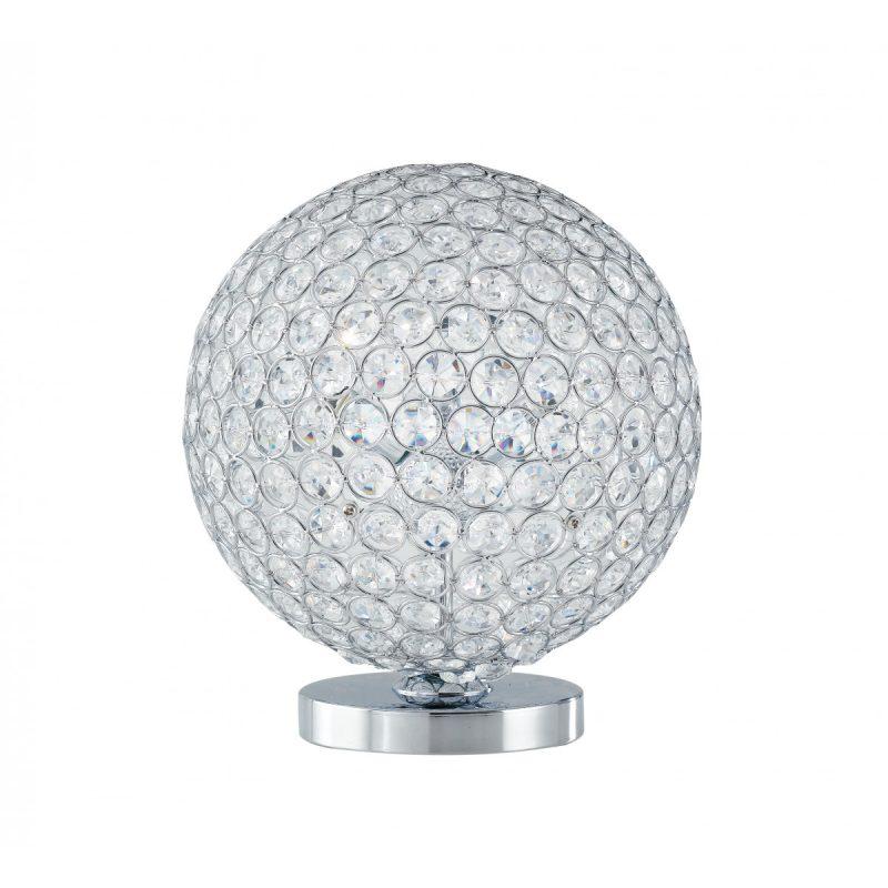 I-PLANET/L - Lampada da tavolo dalla forma sferica luminosa per i cristalli incastonati 28 watt G9