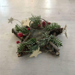 Candeliere Stella Legno Natale