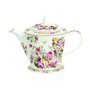 Teiera in Porcellana Bianca Blooming Opulence