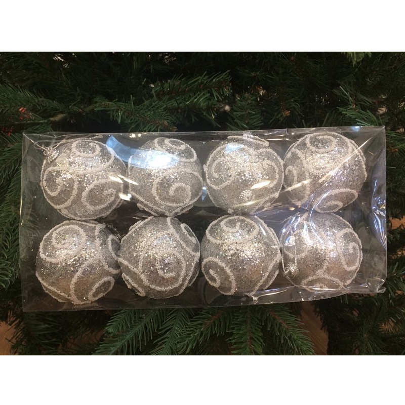 palline nataline argentate nataluna