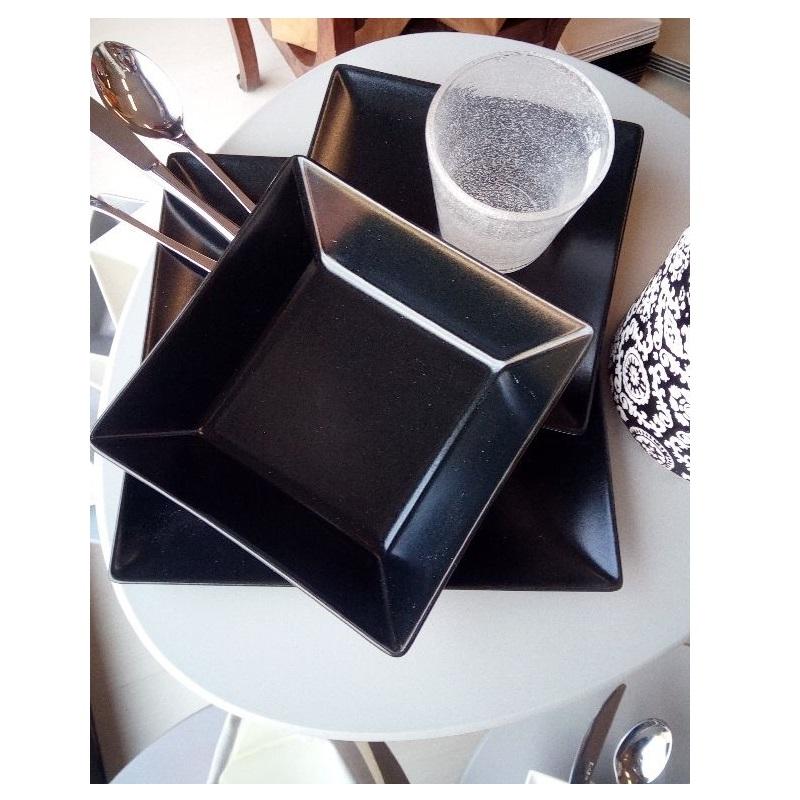 Set piatti square nero - Scherzer
