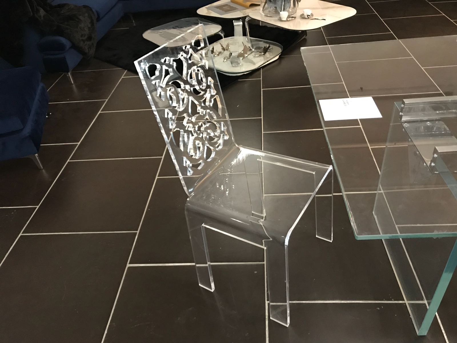 Sedia Plexiglass Trasparente Brighter Home