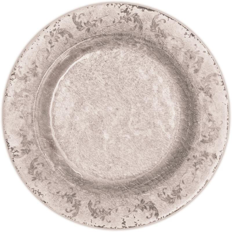 6pz Piatto Dessert Bianco/Avorio Evergreen Baci Milano