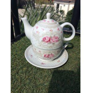 L'arte di Nacchi - Teiera con tazza e piattino