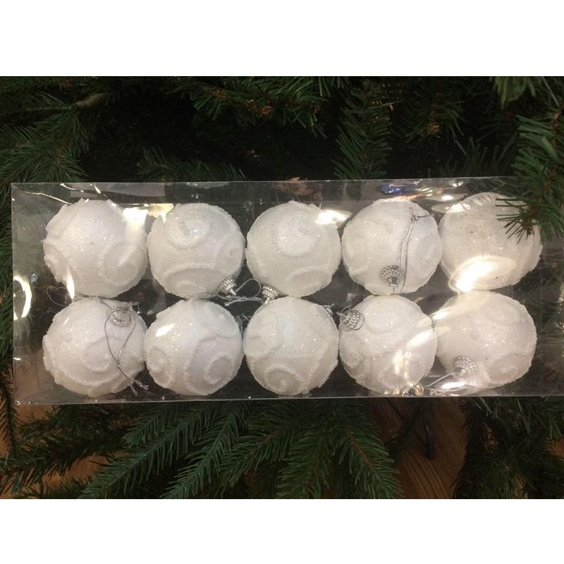 confezione palline natalizie piccole bianche nataluna