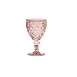 Conf. 6 bicchieri vino cipria Baci Milano - neo barocco diamond