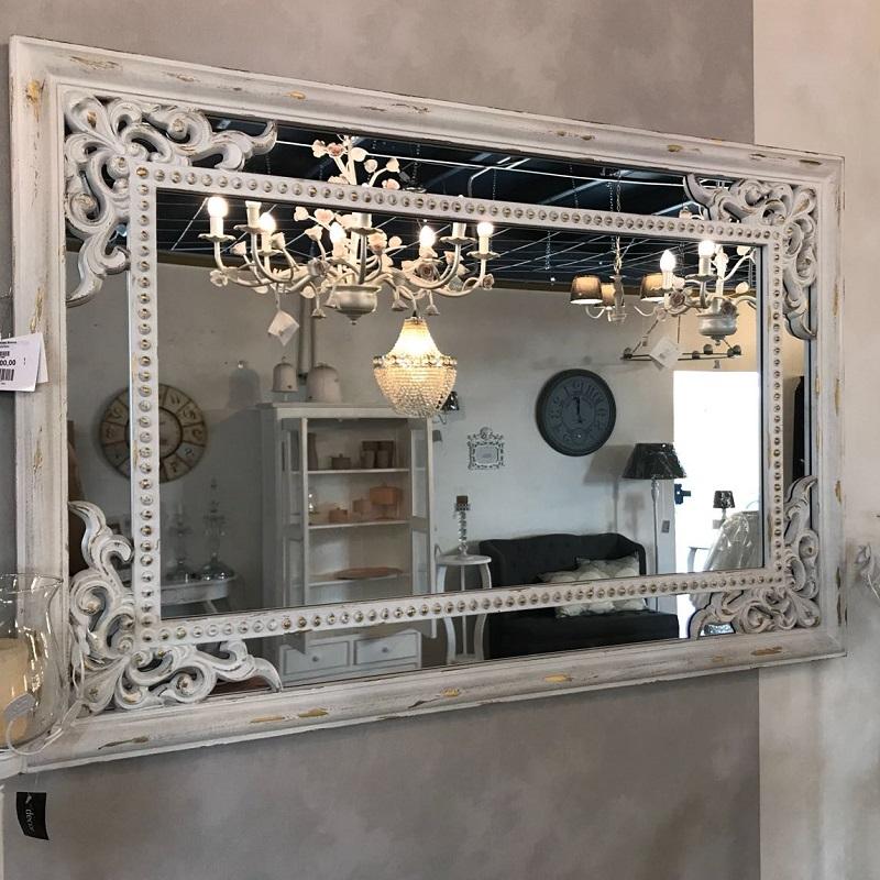 Specchio veneto bianco belda brighter home - Specchio bianco ...