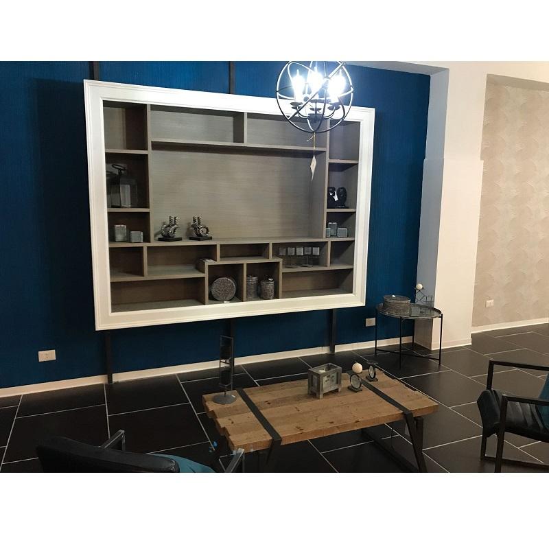 Mobile tv a muro cornice legno devina nais brighter home for Cornice profonda