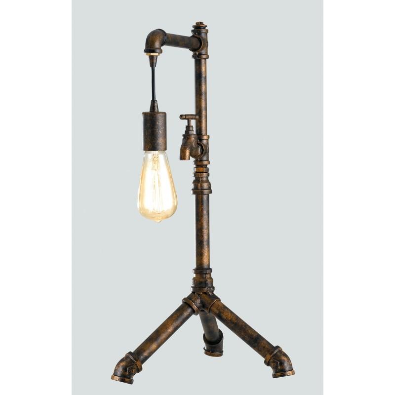 I-AMARCORD-L1 - Lampada da tavolo rustica 60 watt E27