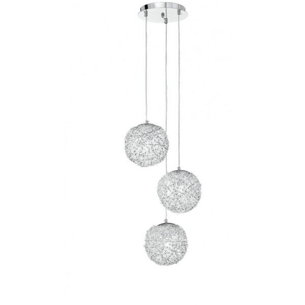 I-ASTRA/S3 - Lampadario a sospensione a tre pendenti sferici 60 watt E27