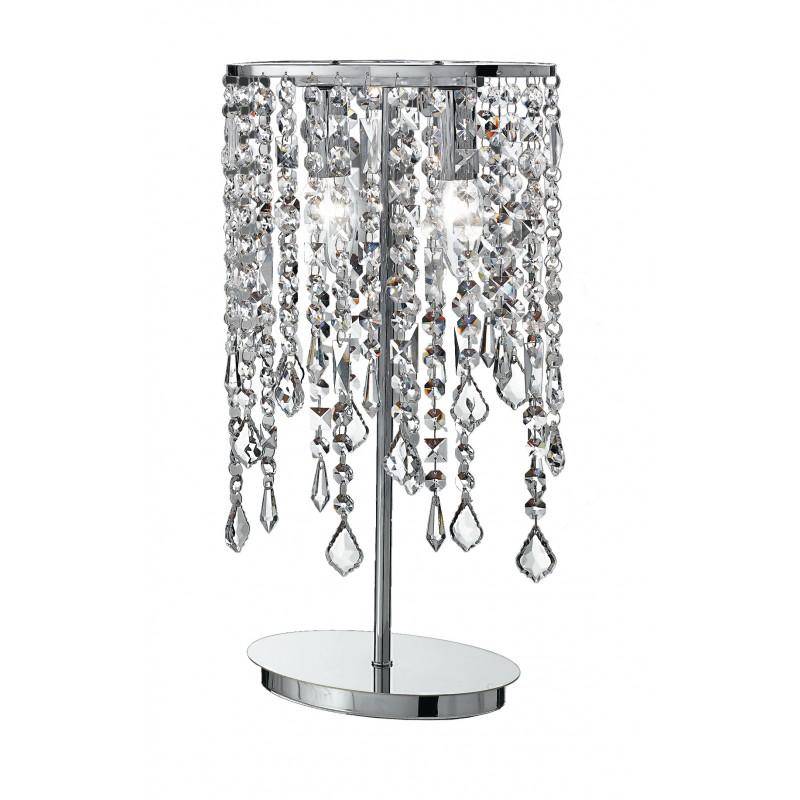 I-BREEZE/L2 - Lampada da tavolo con cristalli decorativi classica 40 watt E14