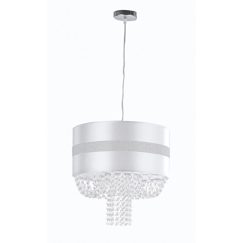 I-CHIGNON/S40 - Lampadario a sospensione circolare con cristalli 60 watt E27