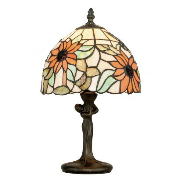 I-DAFNE-L1 - Lampada da tavolo con scultura e vetro dipinto 60 watt E27