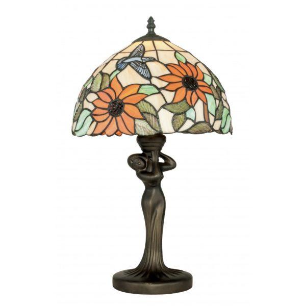 I-DAFNE-LG1 - Lampada da tavolo con motivi floreali e scultura 60 watt E27