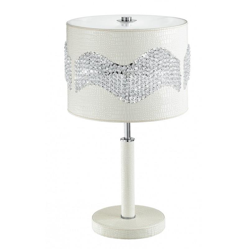 I-ECLIPSE/L1 - Lampada da tavolo elegante con cristalli 60 watt E27