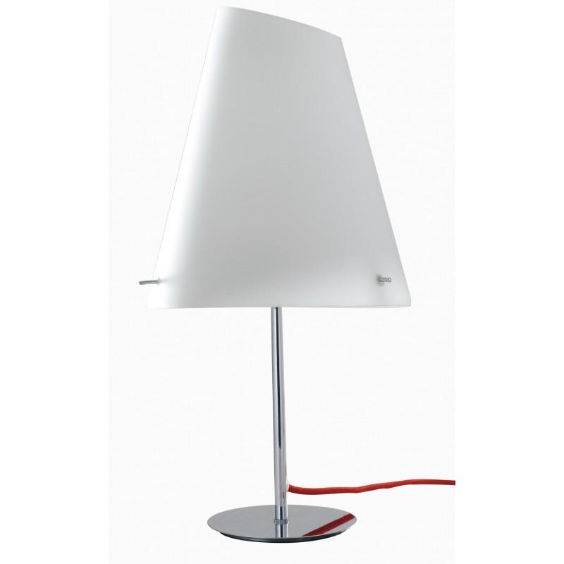 I-ERMES-LG1 - Lampada da tavolo moderna conica bianca 60 watt E27