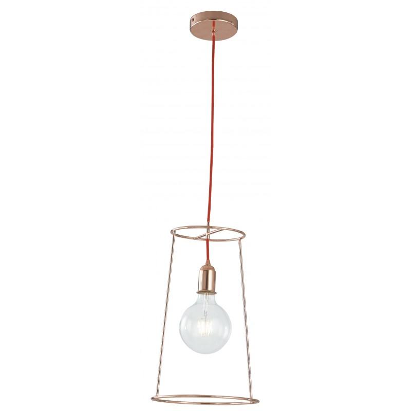 I-FRIDA/S25 - Pendente dal design moderno color oro rosa 60 watt E27