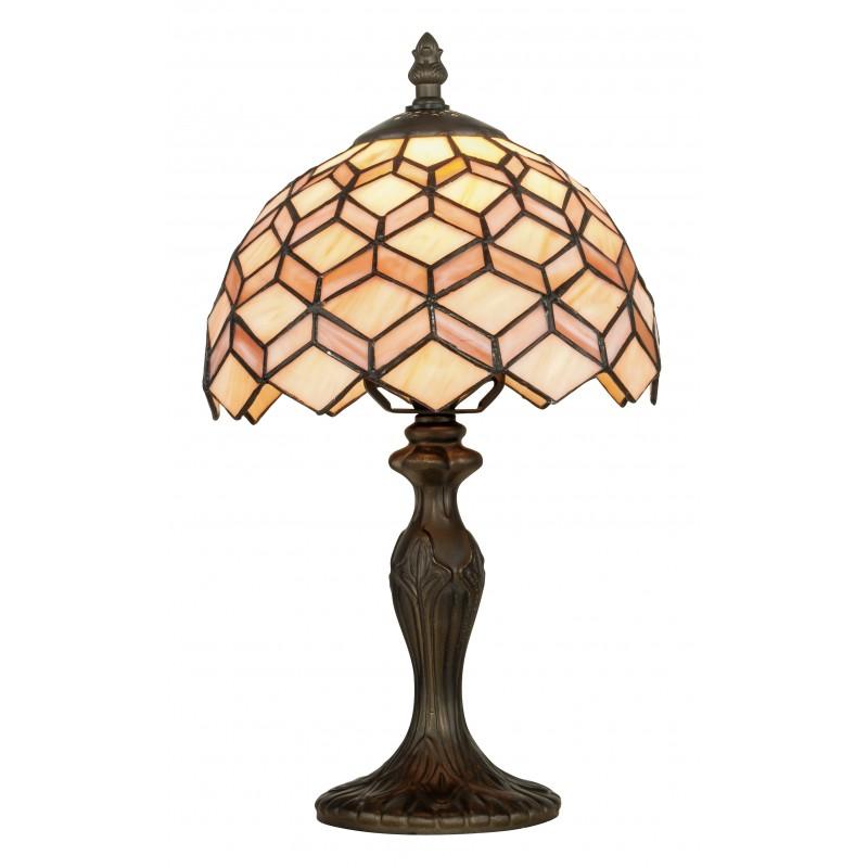 I-LIBERTY-L1 - Lampada da tavolo classica con decoro astratto 60 watt E27
