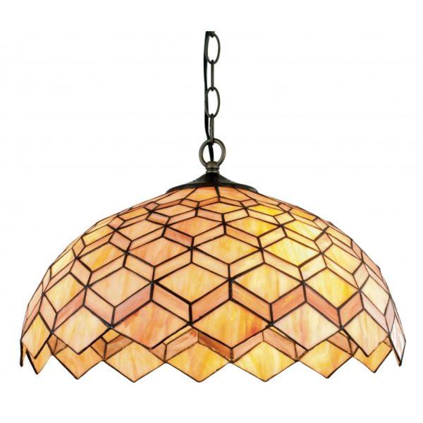 I-LIBERTY-S - Lampadario con motivi geometrici e dai colori caldi 60 watt E27