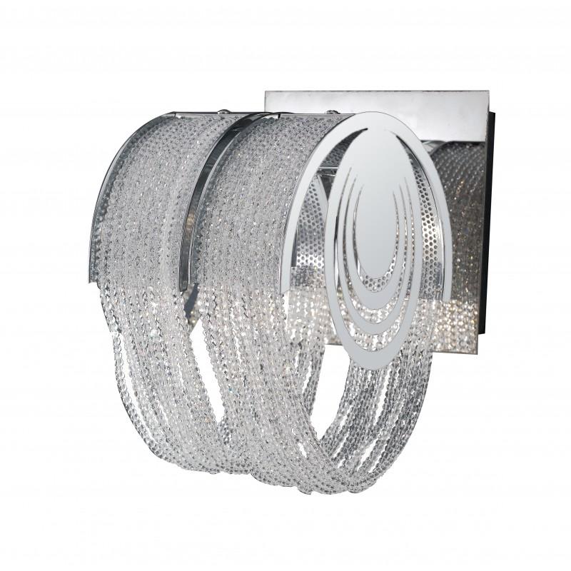 I-LYRICA/AP1 - Applique cromata elegante con cristalli 42 watt G9