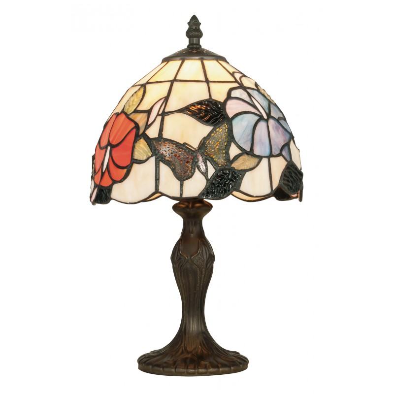 I-NINFA-L1 - Lampada da tavolo dalla forma sinuosa e elegante con paralume in vetro 60 watt E27