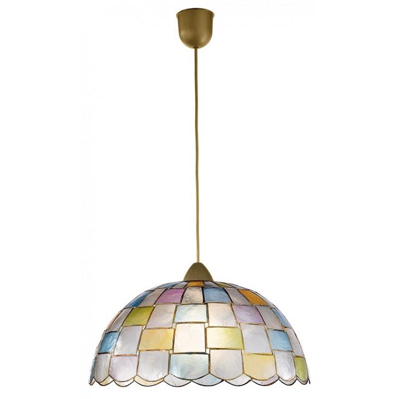 I-PAULA/S1 - Lampadario sospeso con decorazioni geometriche dai colori delicati 60 watt E27