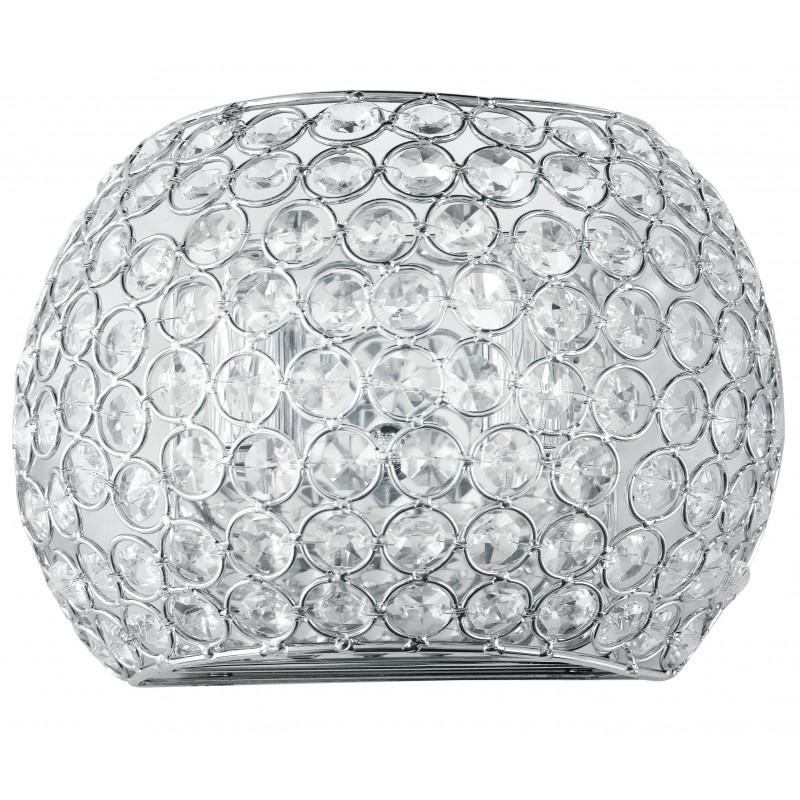 I-PLANET/AP - Applique cromata dal design classico con cristalli decorativi 28 watt G9