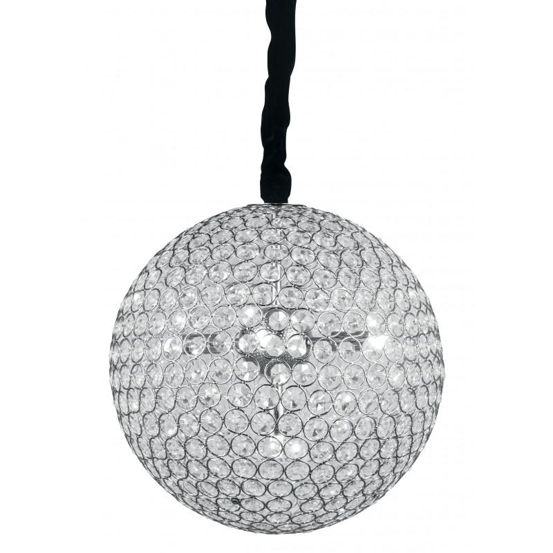 I-PLANET/S35 - Lampadario dalla forma classica circolare con decorazioni in cristalli 28 watt G9 Plafoniera con cristalli dal de