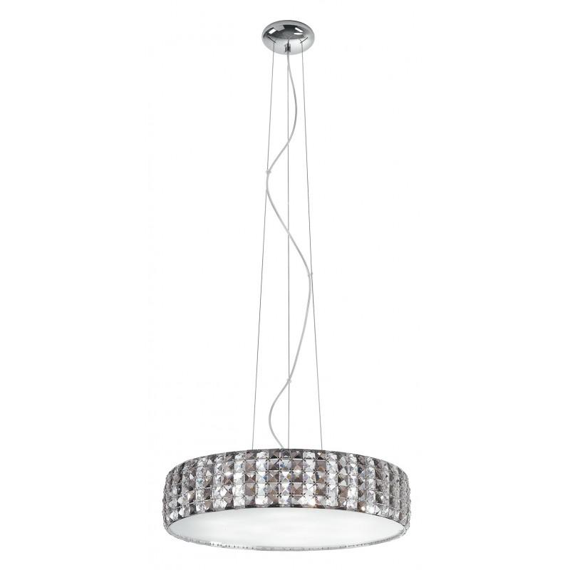 LQCN Lampada da lampadario a Sospensione Circolare Vintage con Gancio Circolare a soffitto Avorio