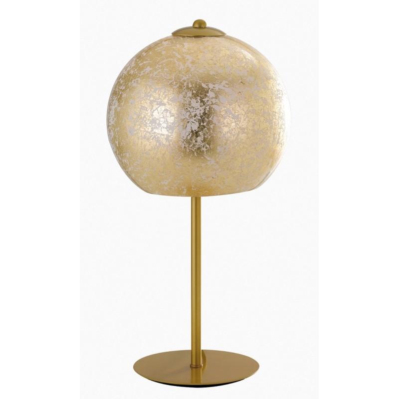 I-VANITY/L ORO - Lampada da tavolo sferica di colore oro 60 watt E27