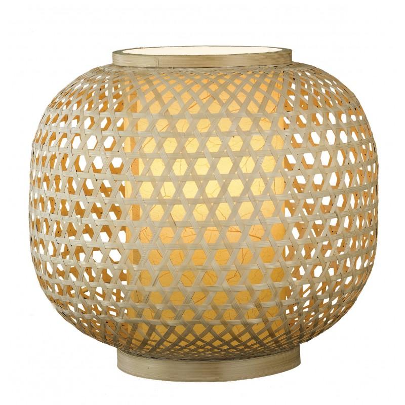 I-ZEN-LUME - Lampada da tavolo con decorazioni intrecciate in bamboo 60 watt E27