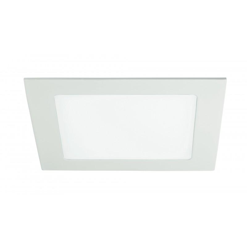 INC-FLAP/12W - Faretto a incasso bianco quadrato con luci led 12 watt 4000 kelvin