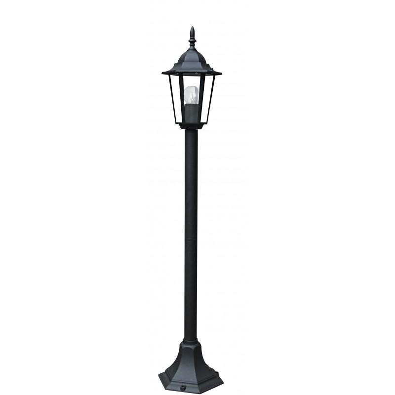 LANT-MILANO/P1 - Palo lampione a tenuta stagna nero da giardino MILANO