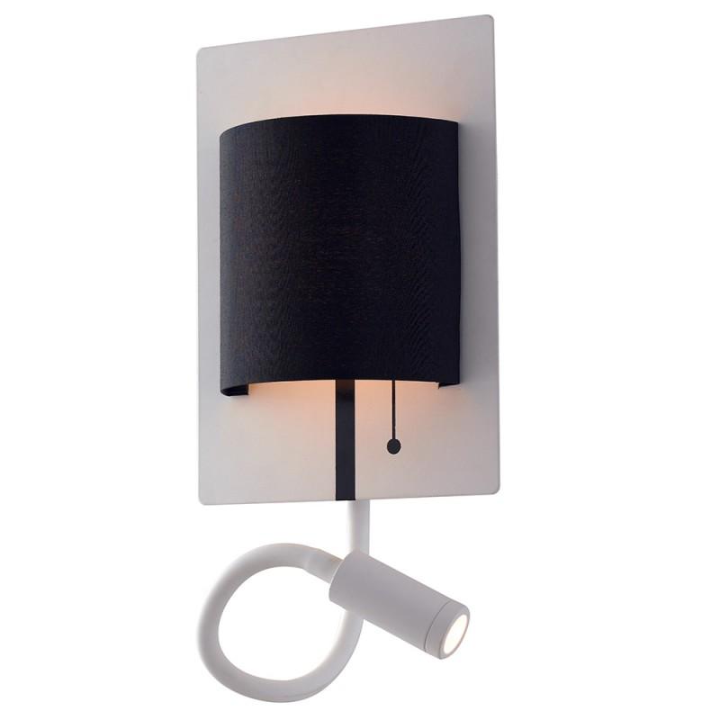 LED-POP-WB Applique Pop base bianca diffusore nero