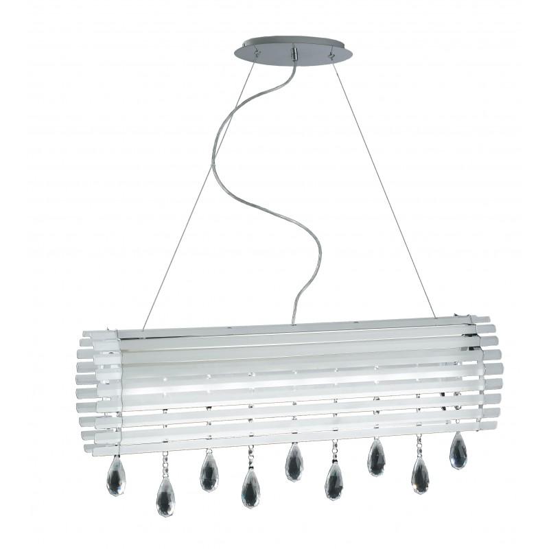 LED-SAMARA-S80 - Lampadario led dalla linea originale e moderna e decorato con cristalli a goccia 40 watt